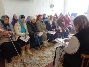 Беседа после Литургии в Введенской церкви с. Ясеновка Воронежской области