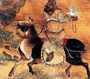 Чингисхан-Тэмуджин-на-охоте-с-соколом